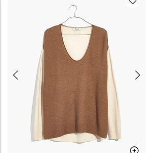 Madewell Kimball Pullover Sweater in Colorblock